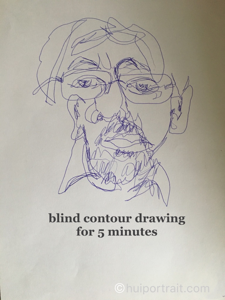 Blog 6 Learning To Draw On The Right Side Of The Brain Hui Portrait